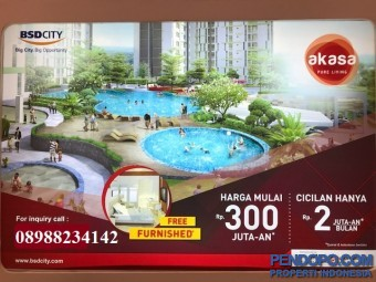 Free Furnished, Apartemen Akasa Pure Living - BSD City