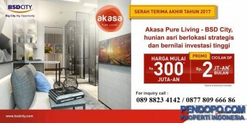 Apartemen Akasa pure living - BSD City Sinarmas Land